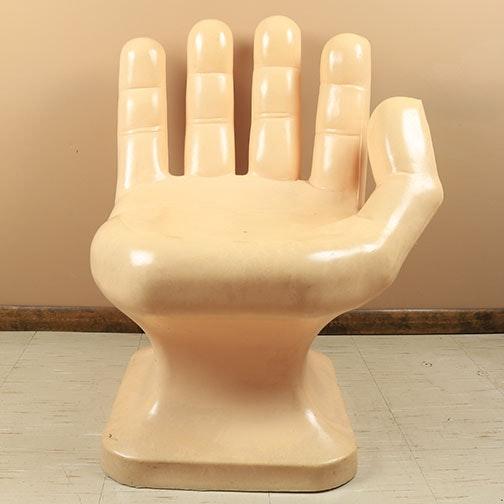 Vintage Mid Century Modern Human Hand Novelty Chair