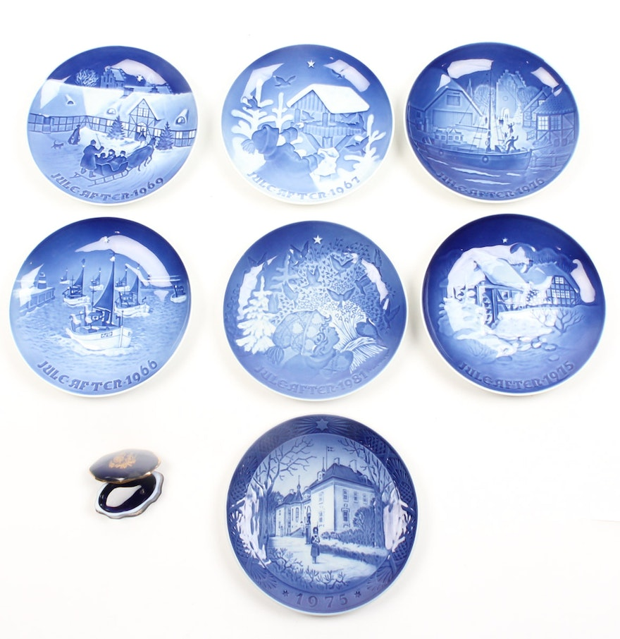 decorative christmas plates including royal copenhagen and bing and grndahl - Decorative Christmas Plates
