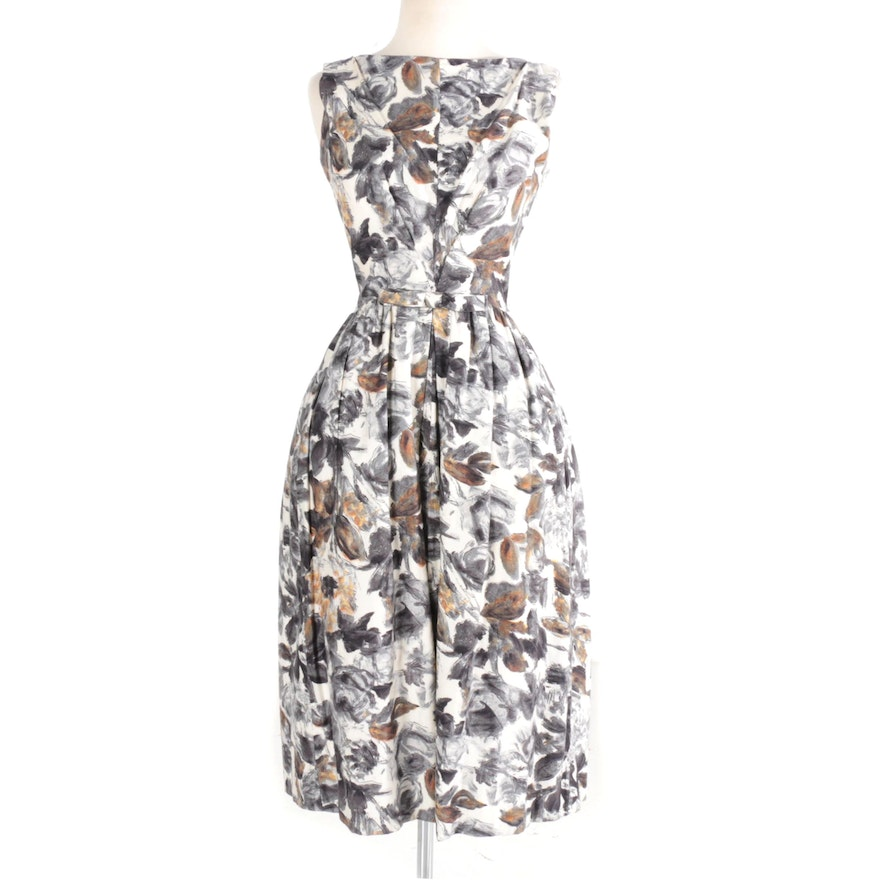 1950s Floral Cocktail Dress by Neiman Marcus : EBTH
