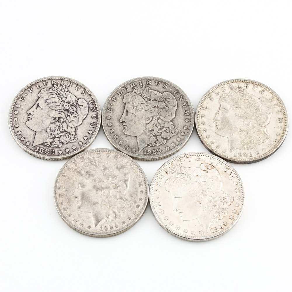 Collection of Morgan Silver Dollars