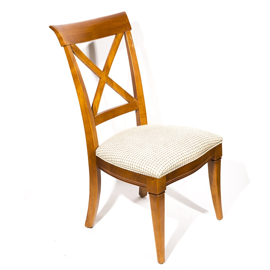 Cherry Finished X-back Dining Side Chair