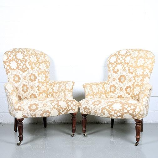 Pair of Arhaus Upholstered Side Chairs