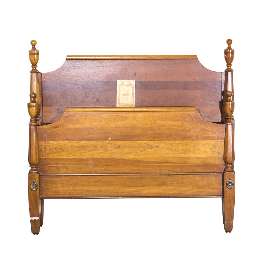 Vintage Davis Cabinet Company Georgian Style Bed Frame