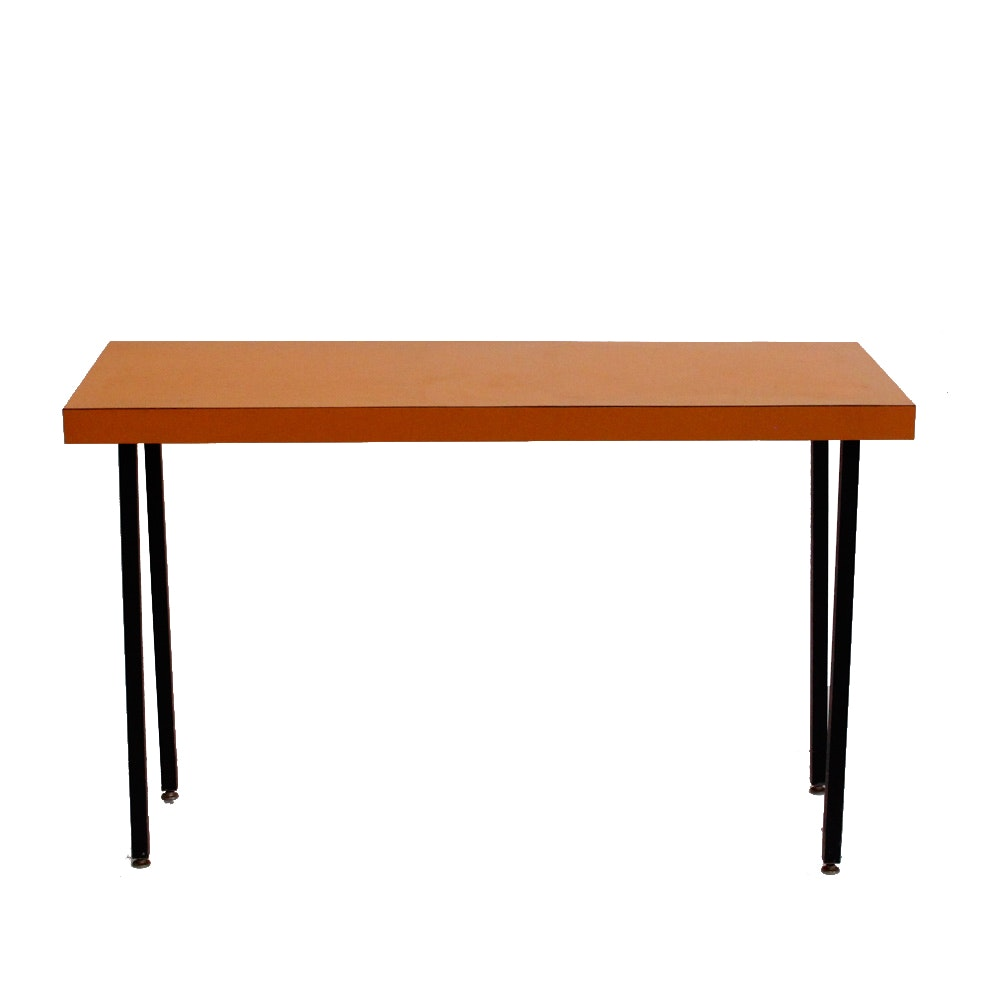 Mid-Century Modern  Orange Laminate Table
