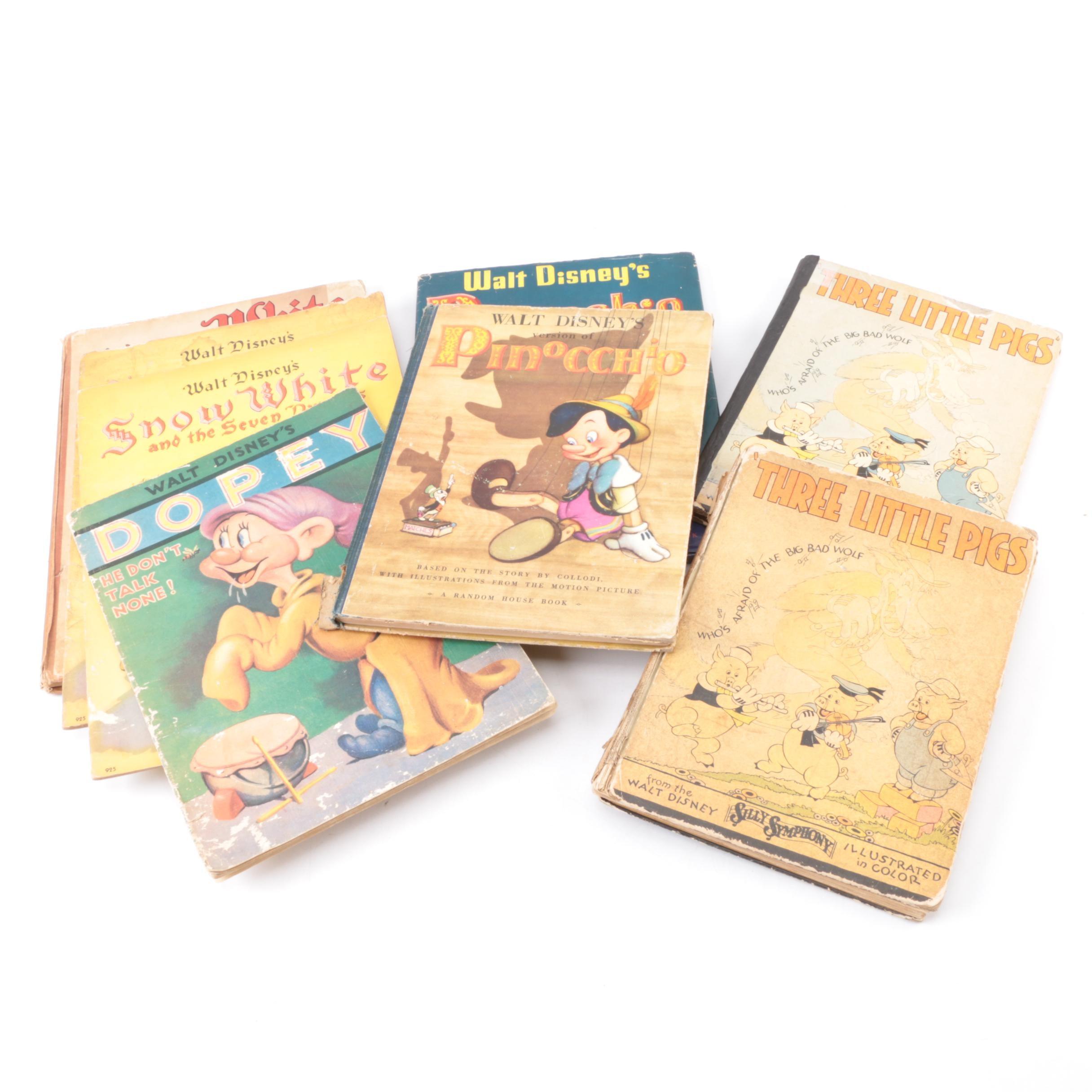 1930s Walt Disney Children's Book Adaptations