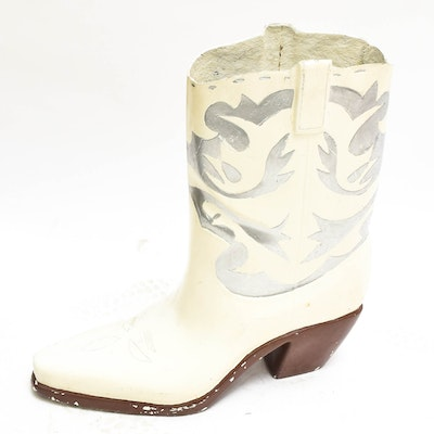 Fiberglass Cowboy Boot Sculpture