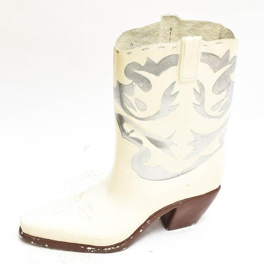 Fiberglass Cowboy Boot Sculpture