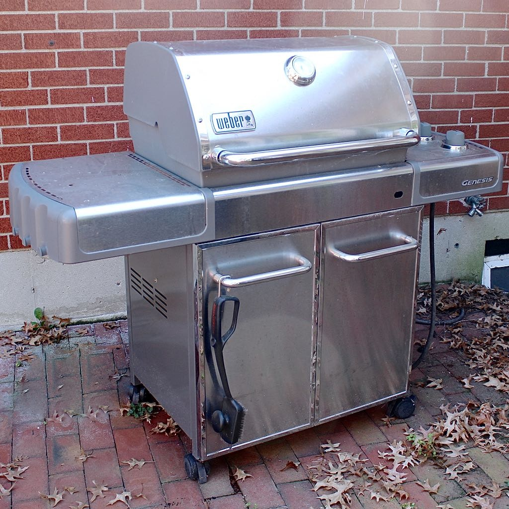"Weber ""Genesis"" Stainless Gas Patio Grill"