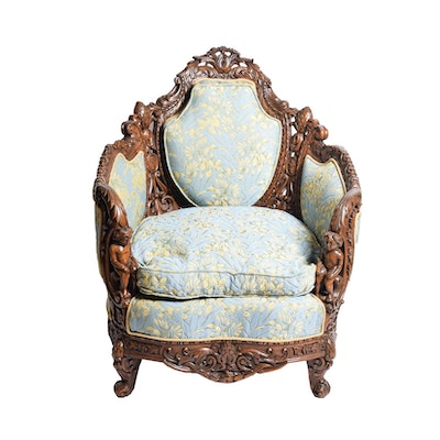 Italian Baroque Style Bergere Arm Chair