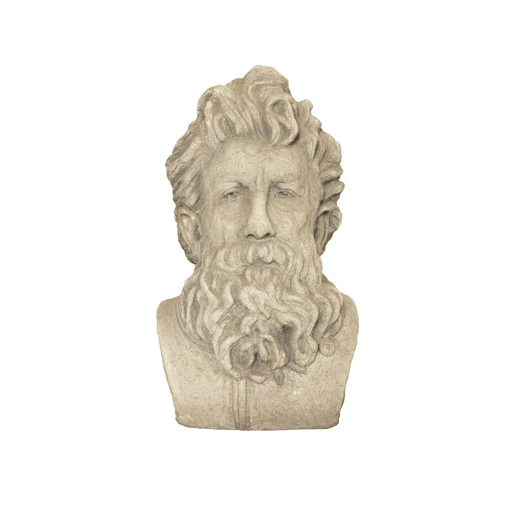 Signed Ceramic Bust of a Man