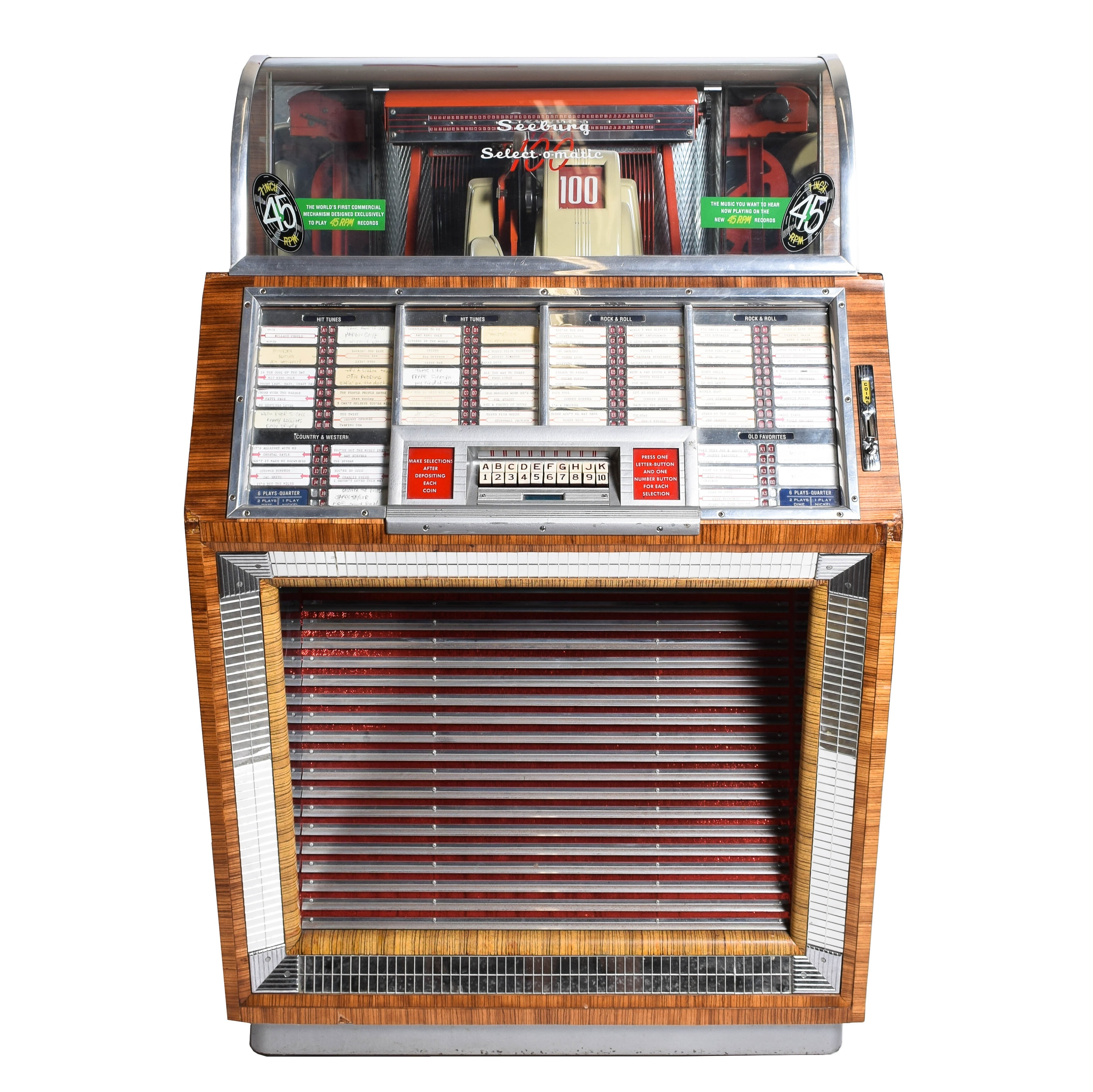 Vintage Seeburg Select-O-Matic 100 Jukebox