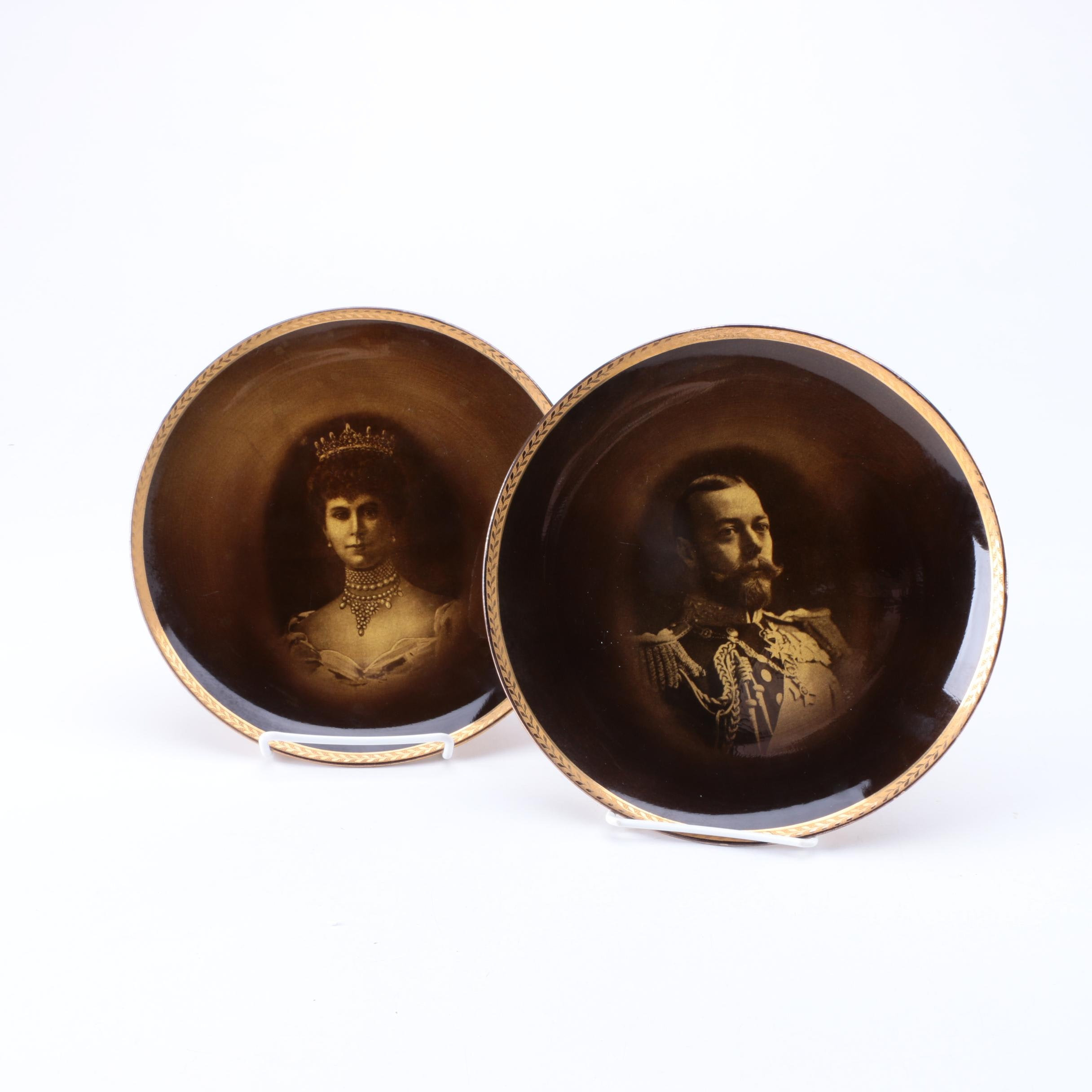Antique George V and Mary of Teck Commemorative Plates