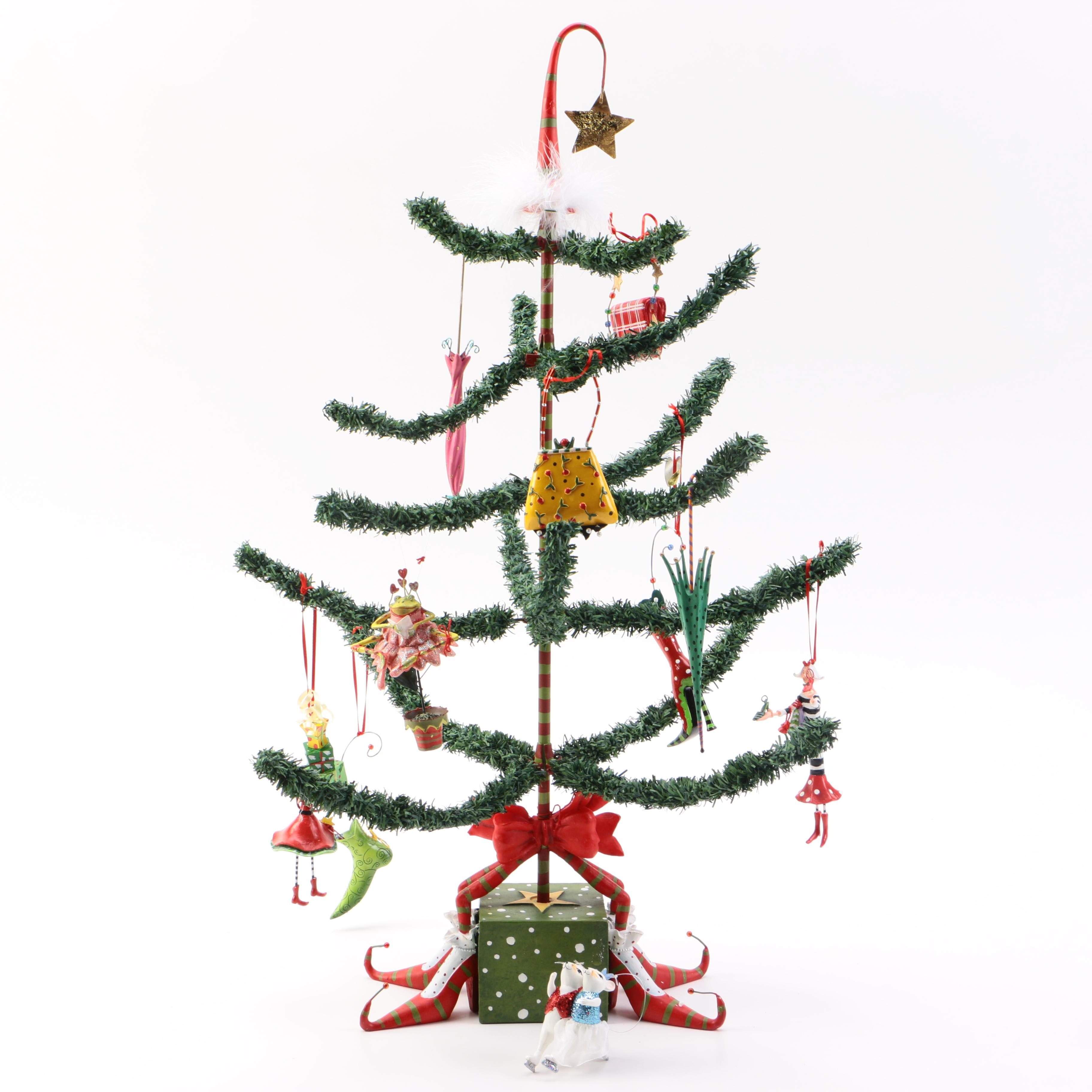 """Department 56 """"Krinkles"""" Christmas Tree Decoration with"""