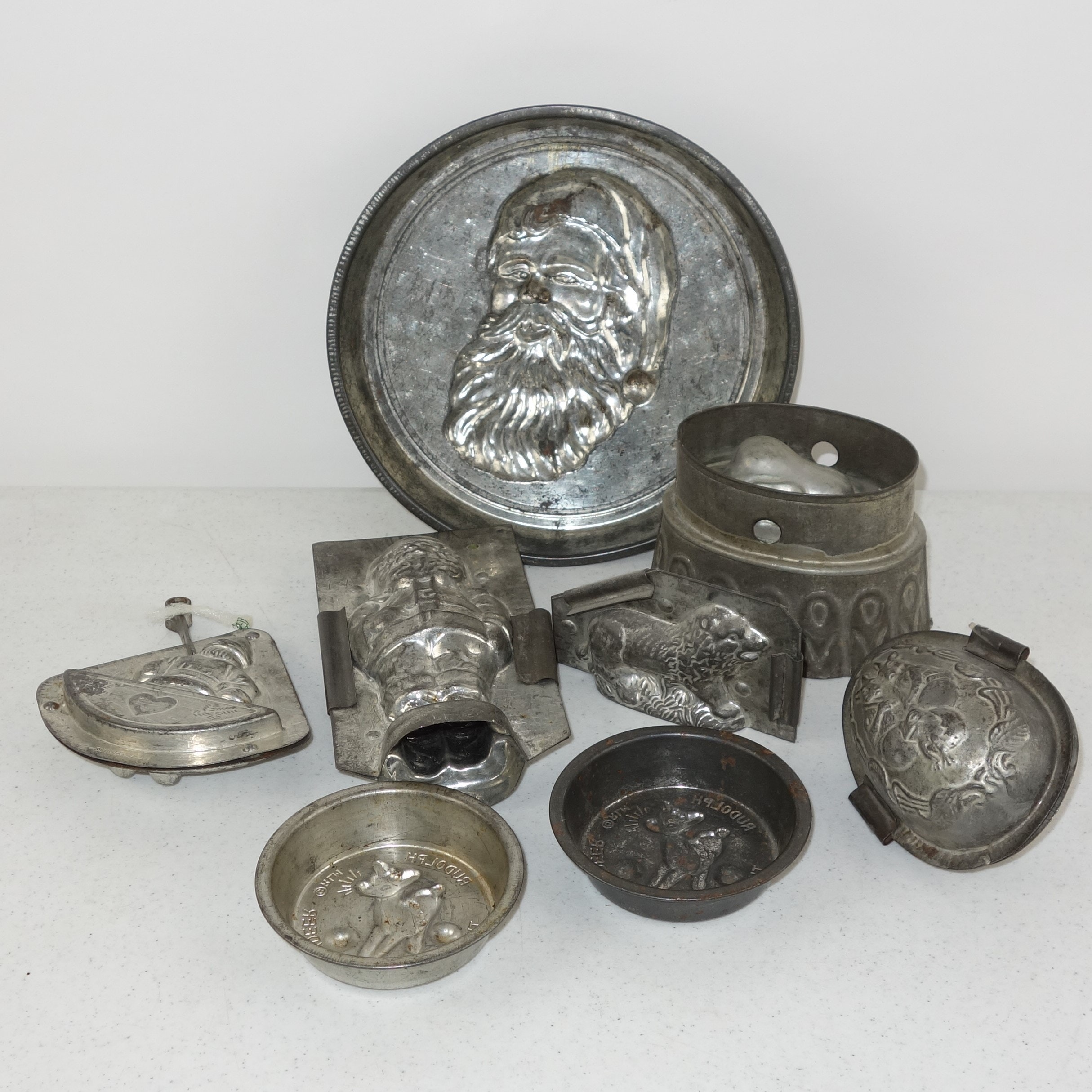 Collection of Antique Tin Chocolate Molds