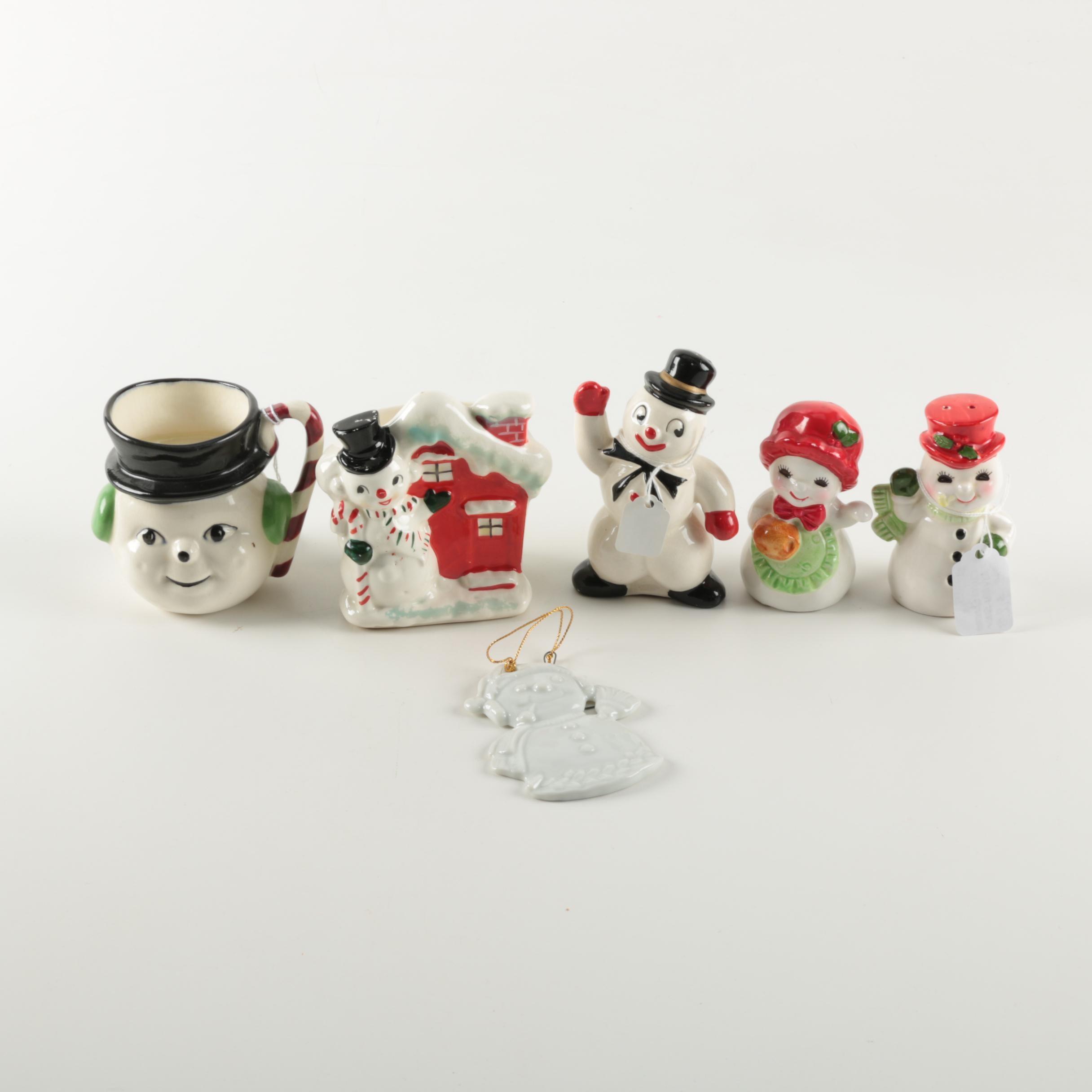 Christmas Snowman Themed Decor