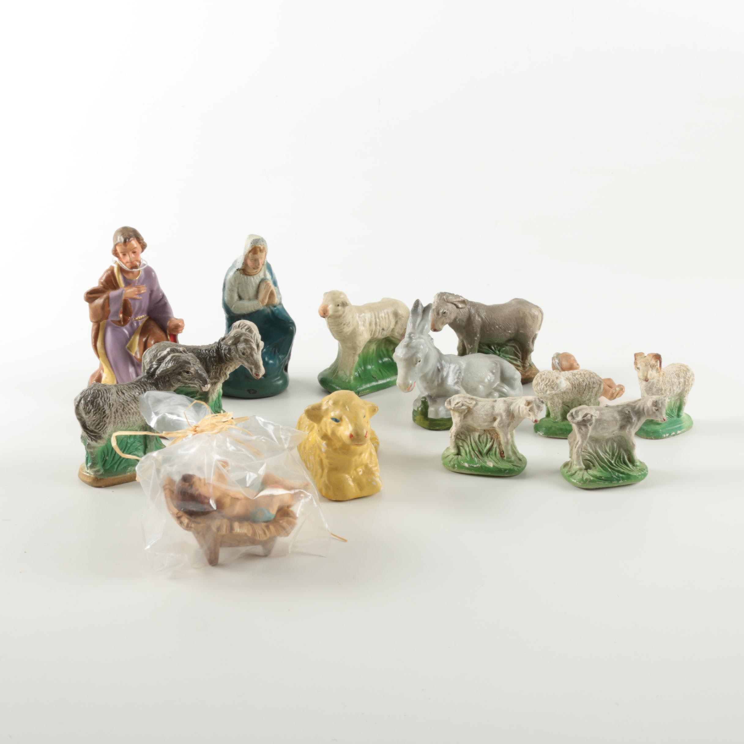 Ceramic Christmas Nativity Figurines