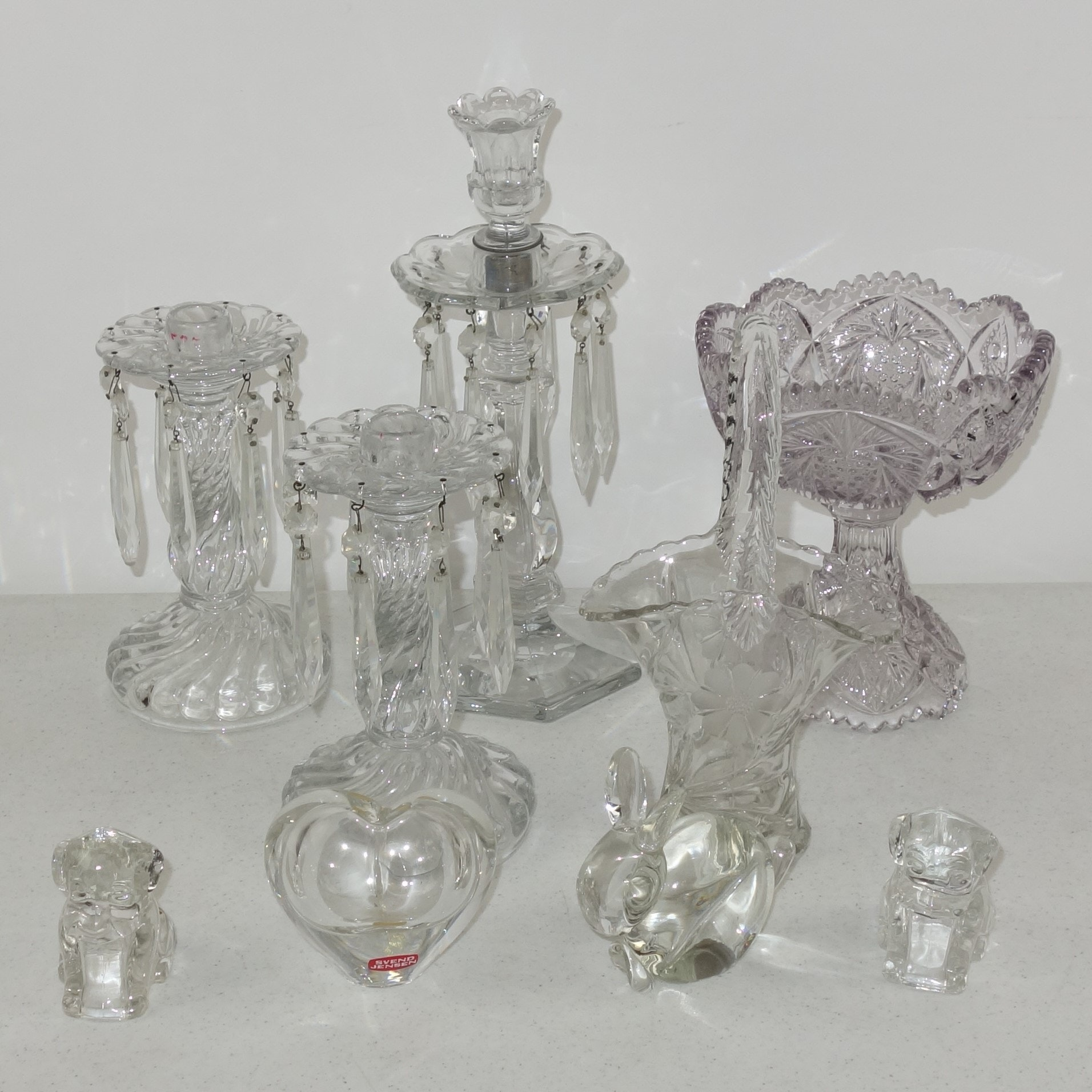 Vintage Crystal and Early American Pressed Glass