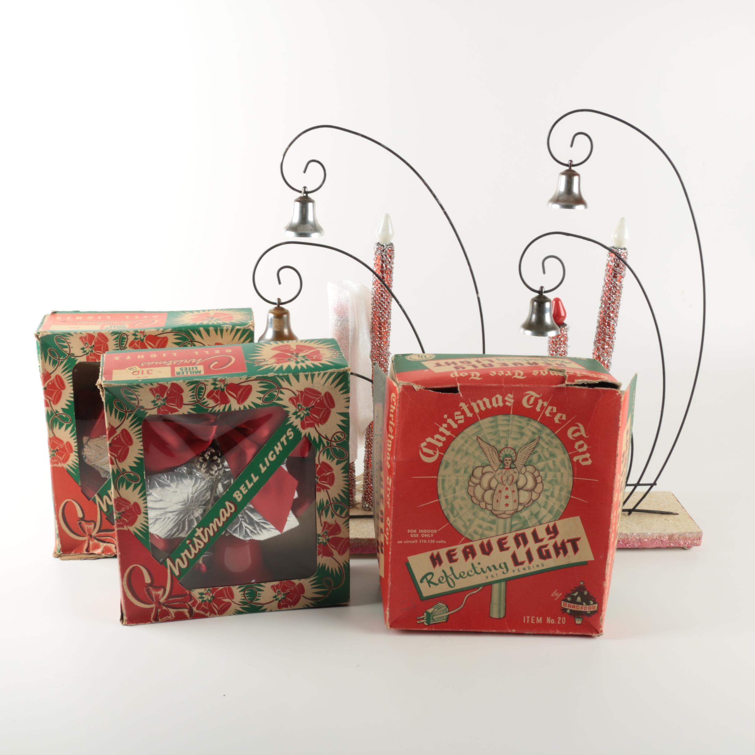 Vintage Christmas Lighting Assortment Including Miller-Lites