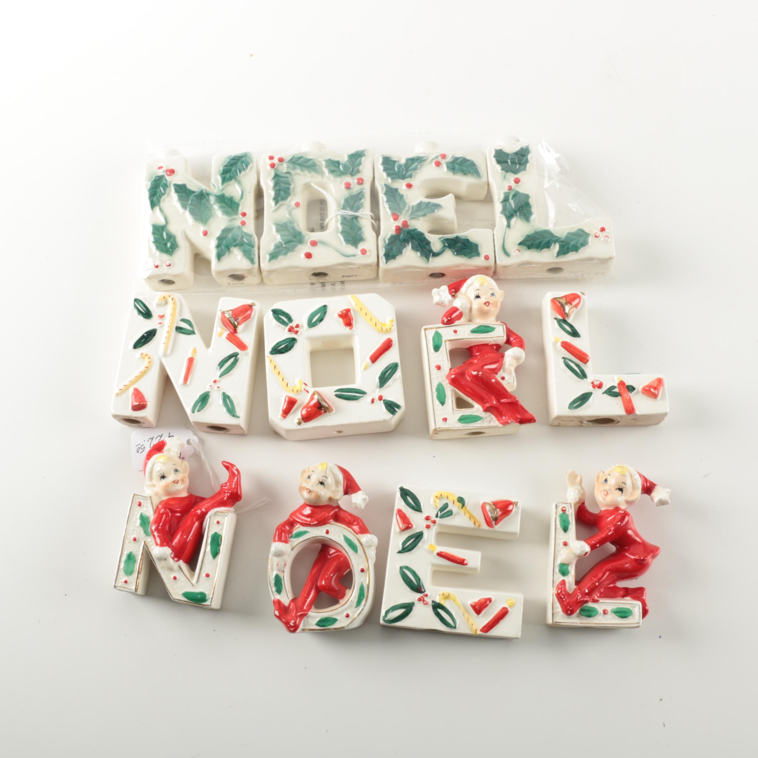 Ceramic Holiday Letters