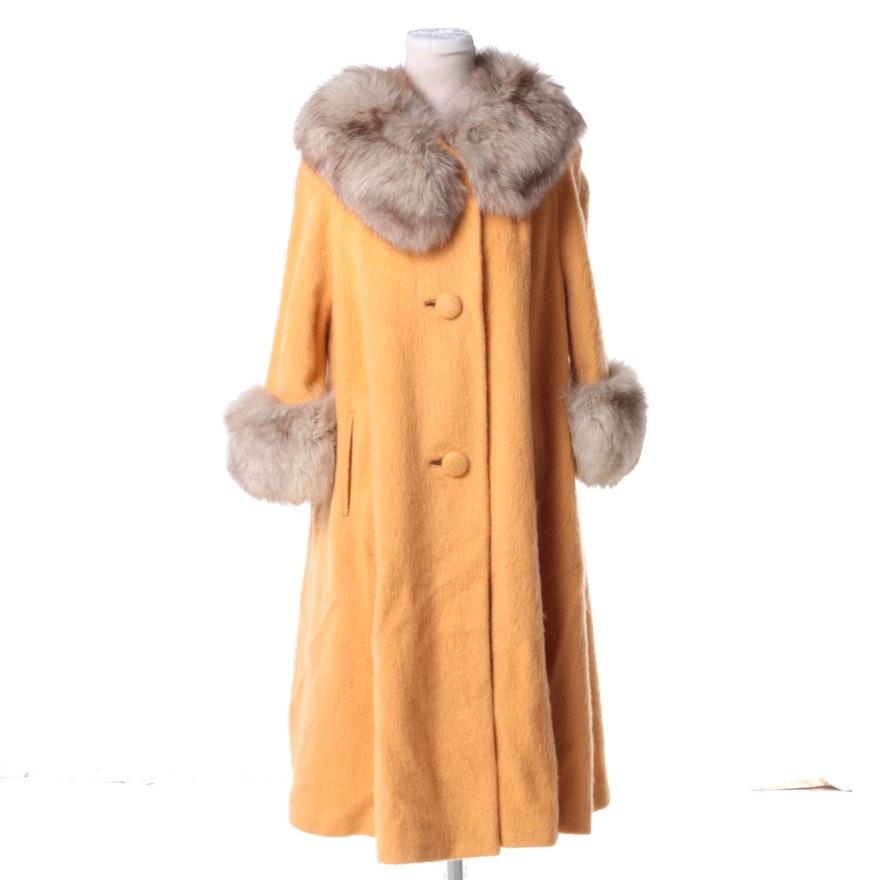 610c97d7c187 Women s 1960s Lilli Ann Wool Coat with Fox Fur Trim   EBTH