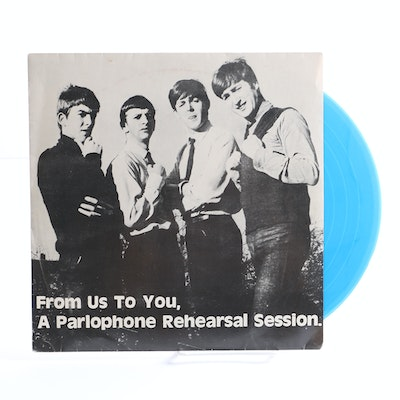 "The Beatles ""From Us To You, A Parlophone Rehearsal Session"" 10"" Blue Vinyl EP"