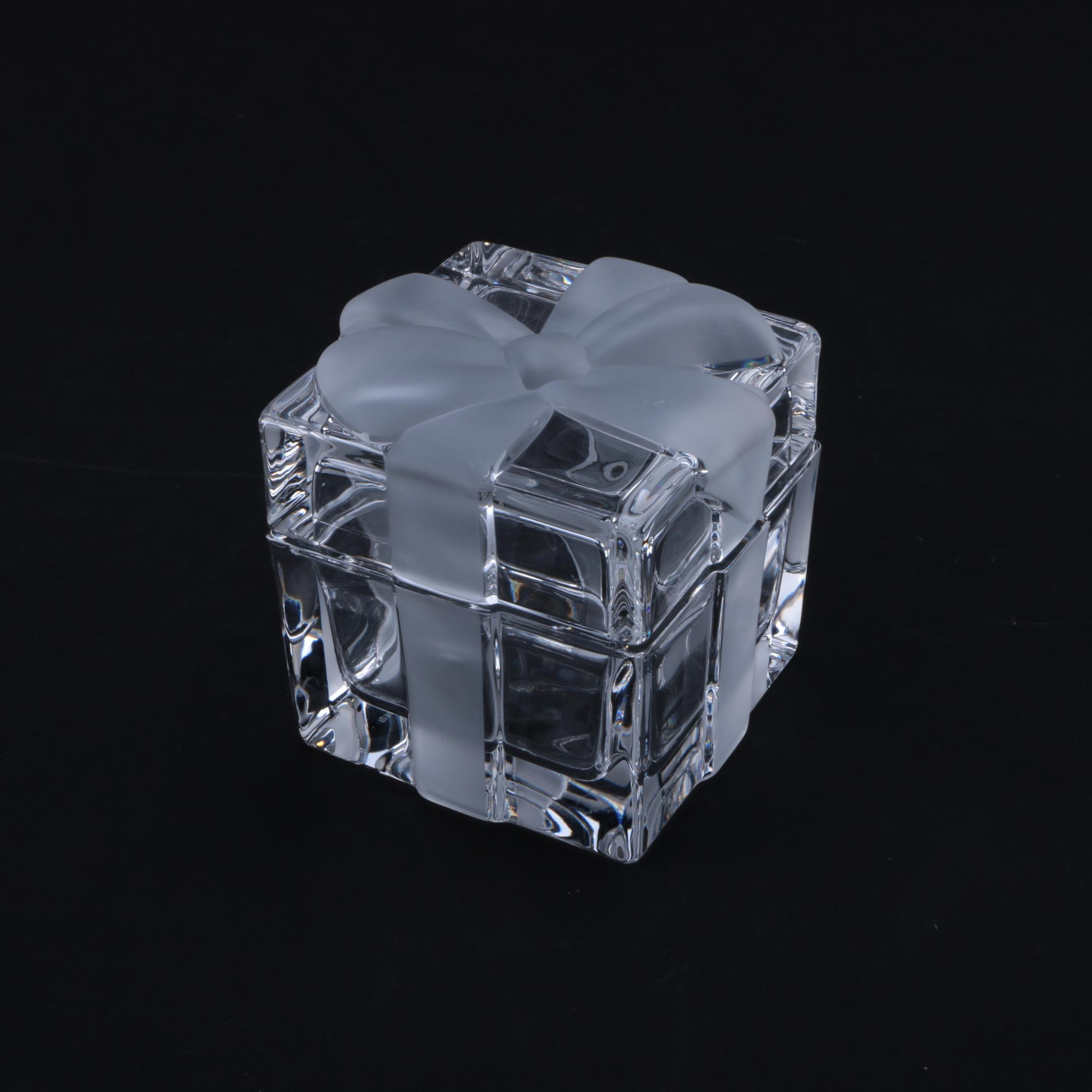 Tiffany & Co. Crystal Gift Box with Frosted Bow