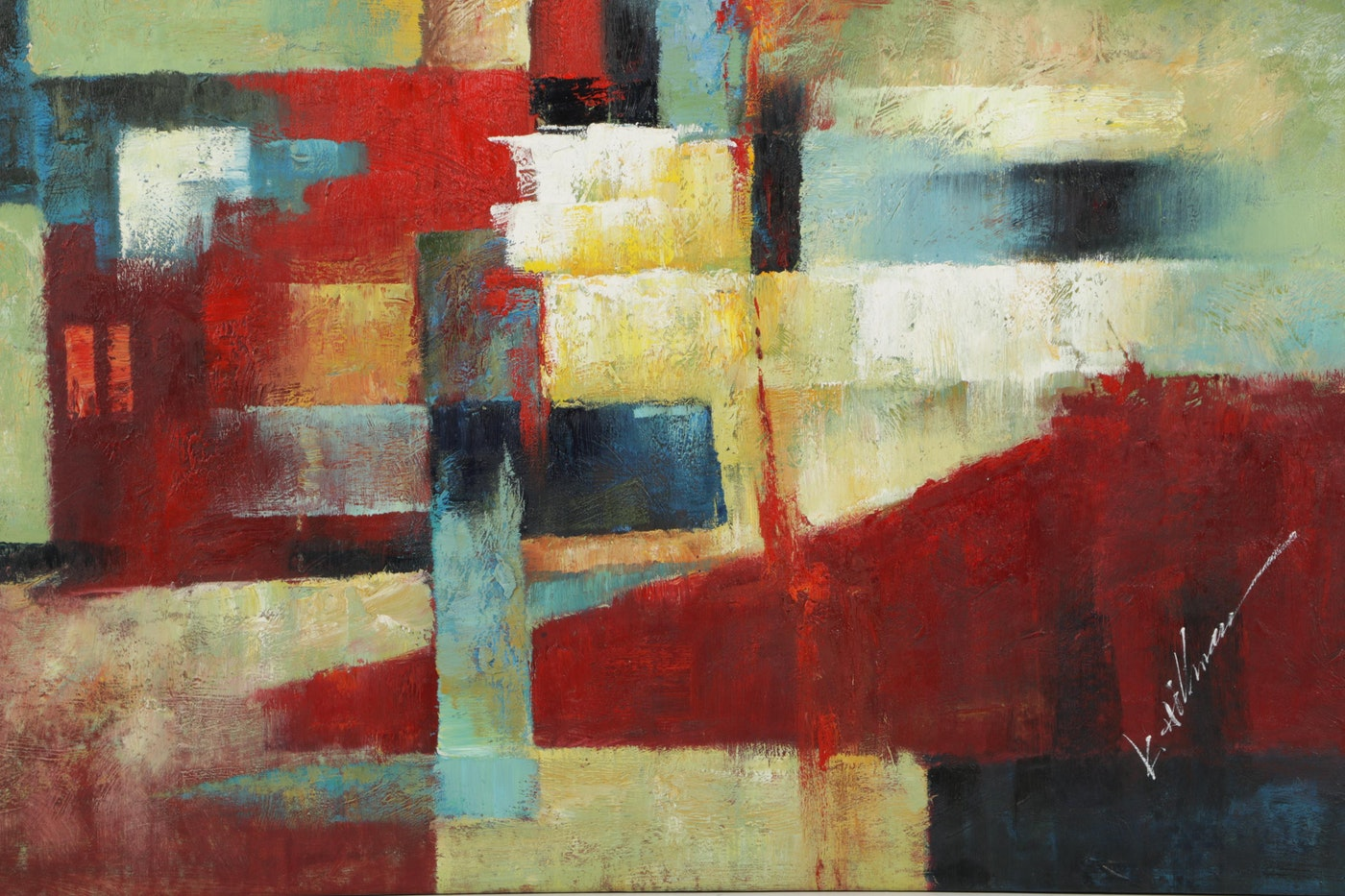 422 Auto Sales >> K. Hillman Abstract Oil Painting on Canvas : EBTH