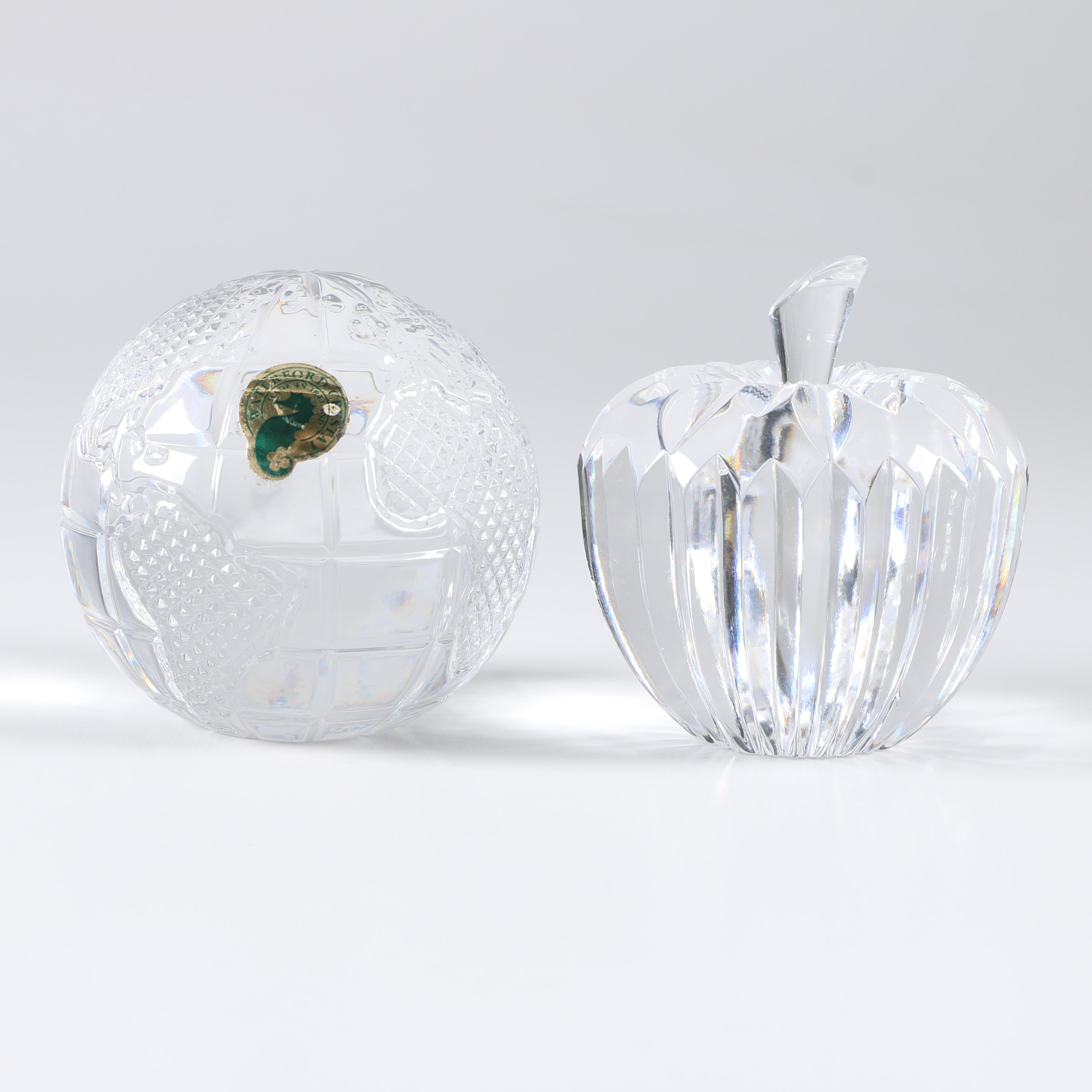 Two Waterford Crystal Paperweights