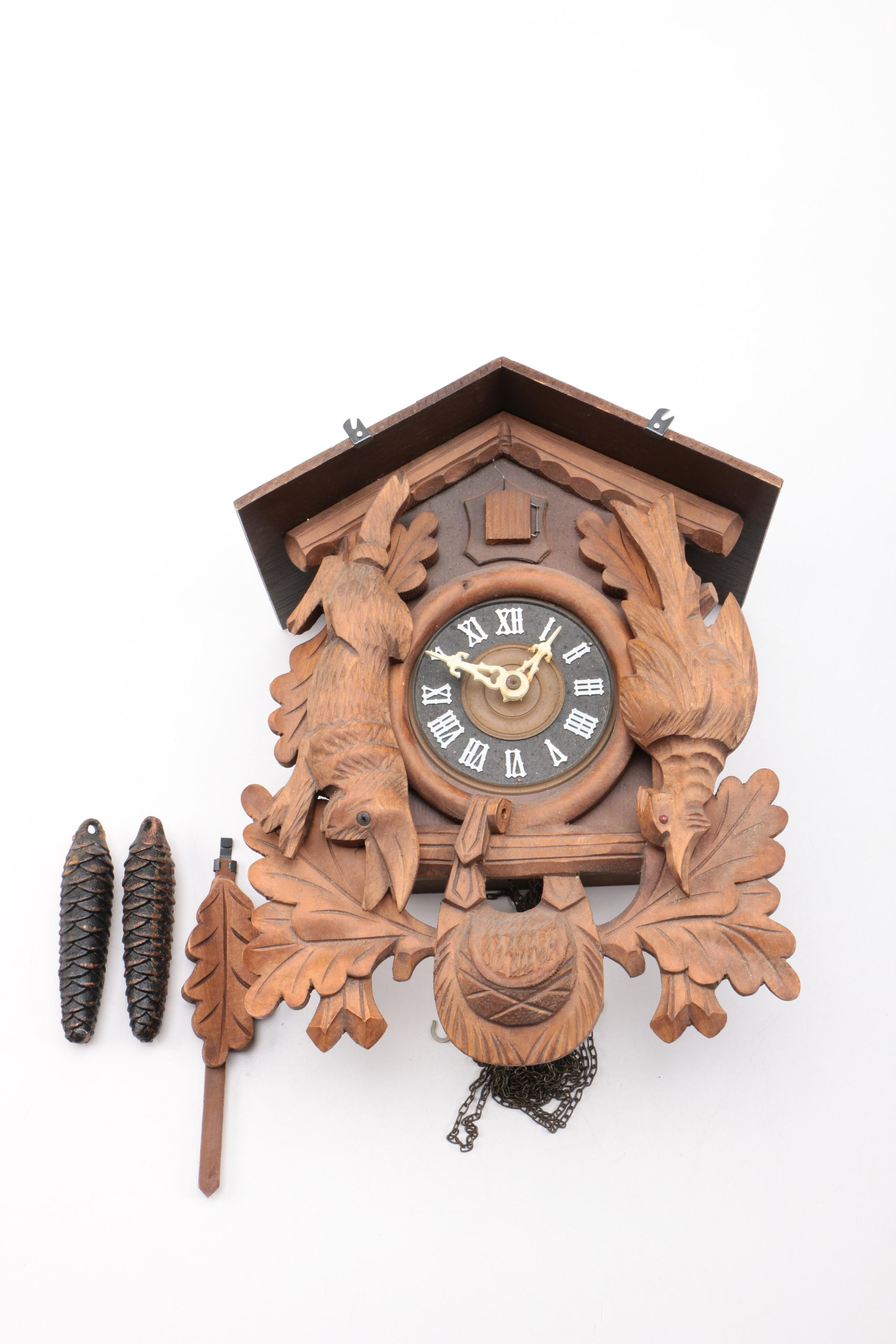 Vintage Black Forest Style Cuckoo Clock