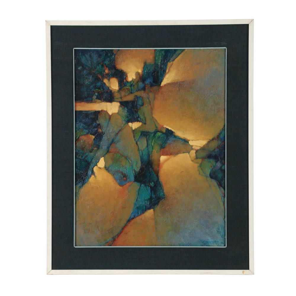 Oil Painting on Canvas of an Abstract Motif