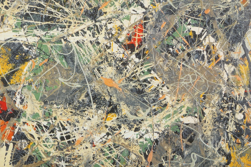 "Offset Lithograph Poster After Jackson Pollock's ""Action ..."