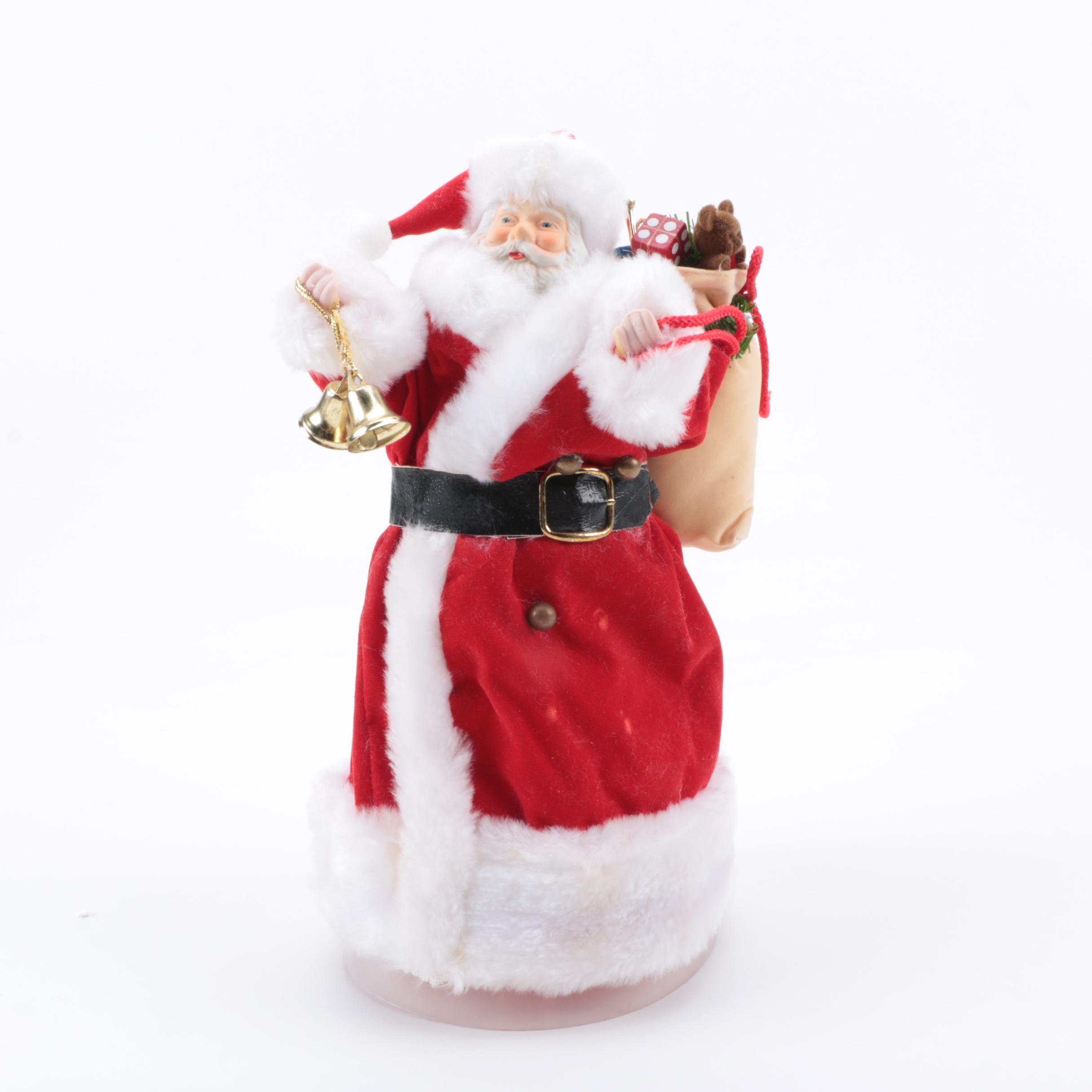 Vintage Decorative Holiday Santa Tree Topper