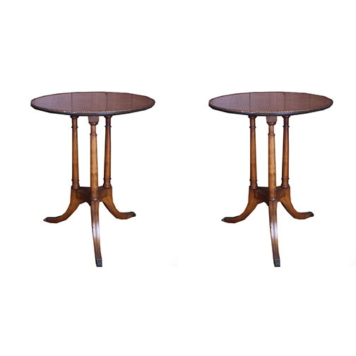 Pair of Vintage Regency Style Side Tables