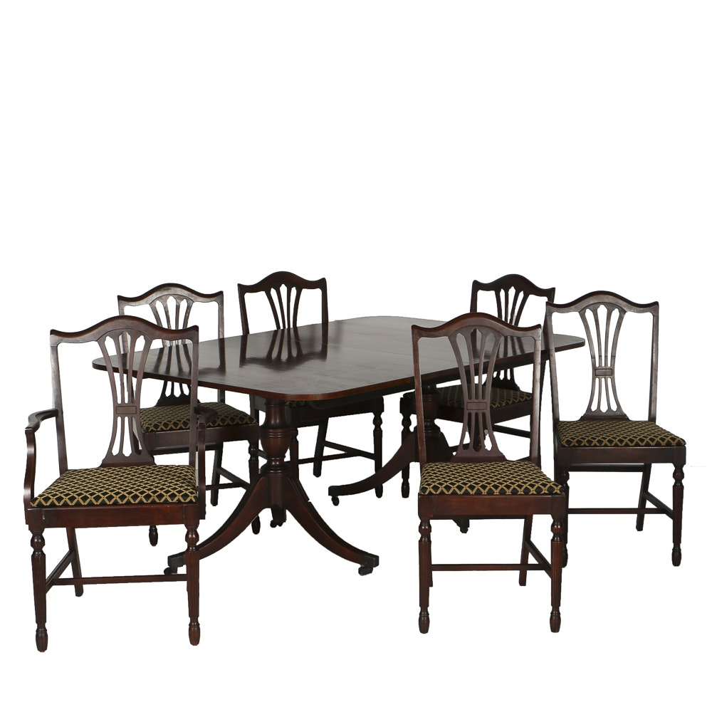 20th Century Mahogany Double Pedestal Dining Table and Six  : Bonta 7190jpgixlibrb 11 from www.ebth.com size 880 x 880 jpeg 86kB