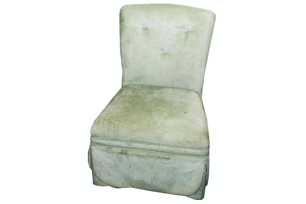 Vintage Upholstered Slipper Chair ...