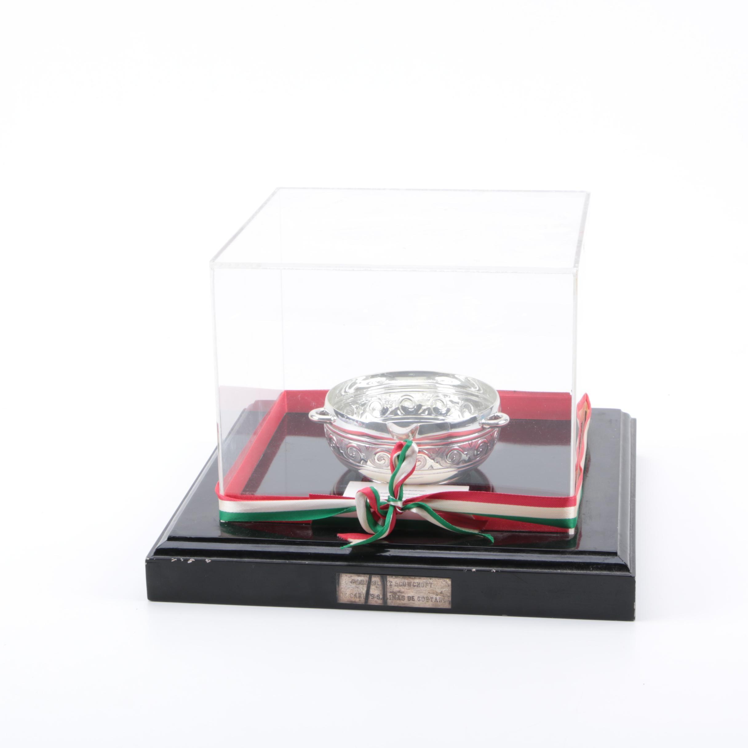 Vintage Sterling Silver Censer Gifted to Brent Snowcroft
