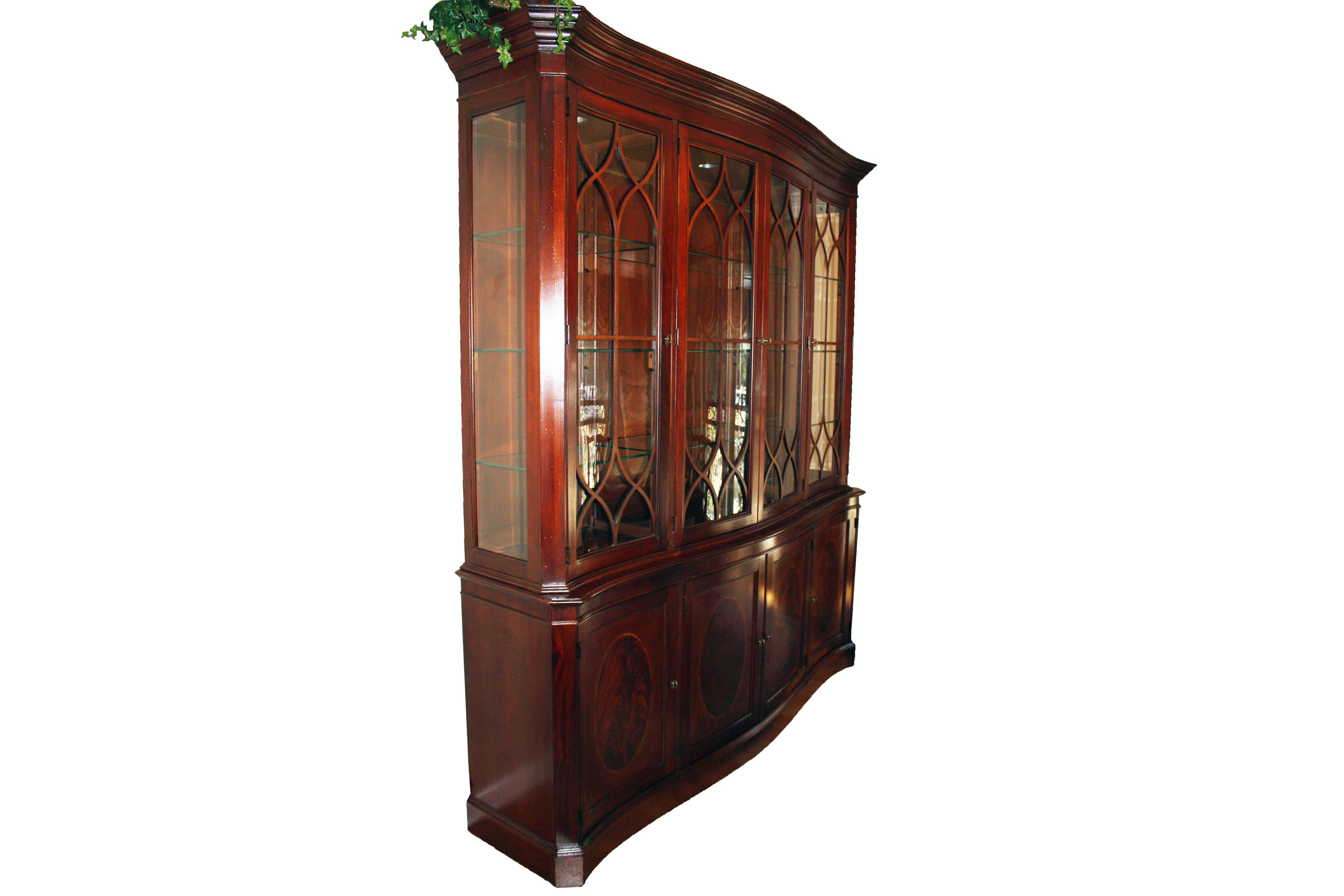 Mahogany Georgian Style China Cabinet By Lexington Furniture ...