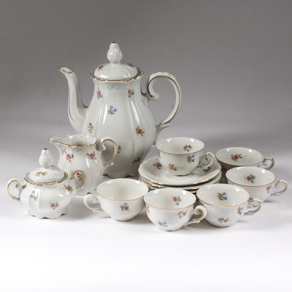 """Germany US Zone"" Vintage Porcelain Tea Set"