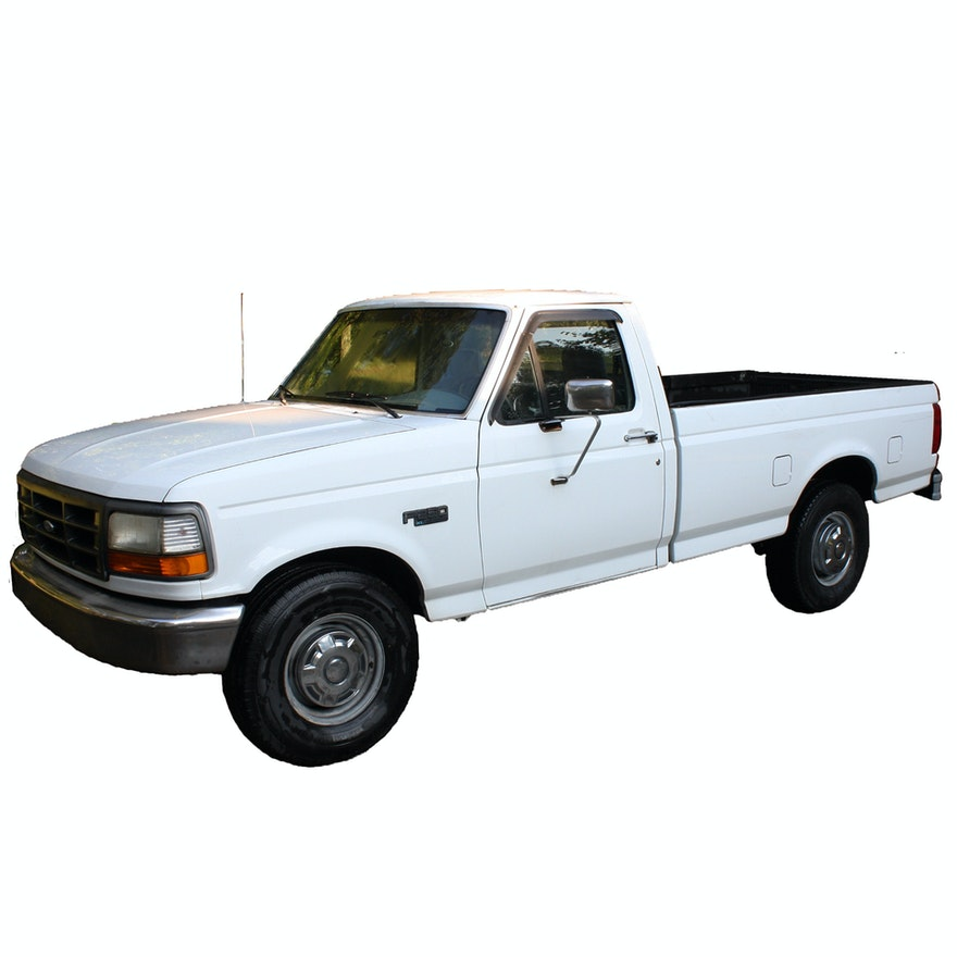 White 1993 Ford F250 Pickup Truck : EBTH