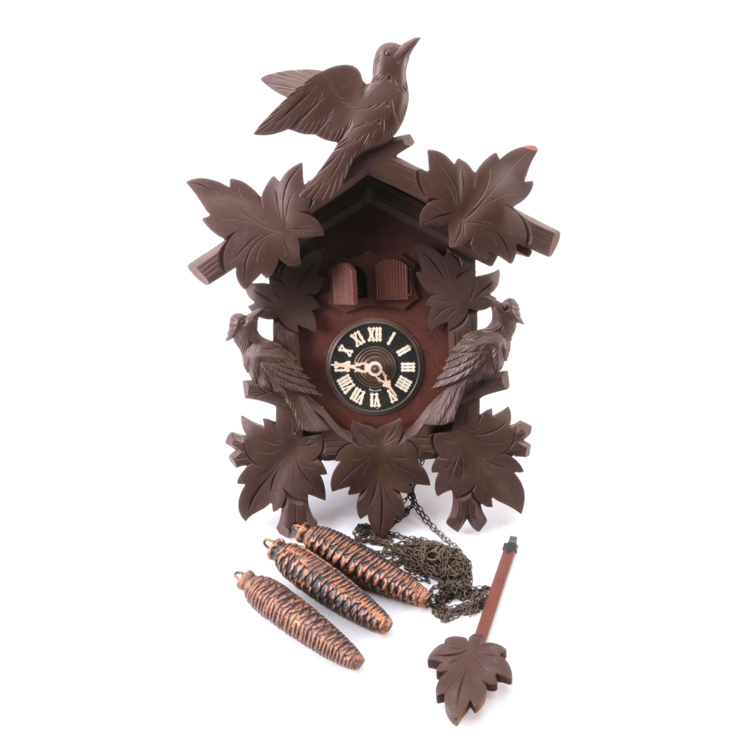 "Musica Swiss Reuge Cuckoo Clock Playing ""The Emperor's Waltz"""