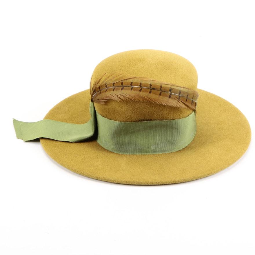 eb59fca4646 Circa 1970s Michael Terre Felted Beaver Hat   EBTH