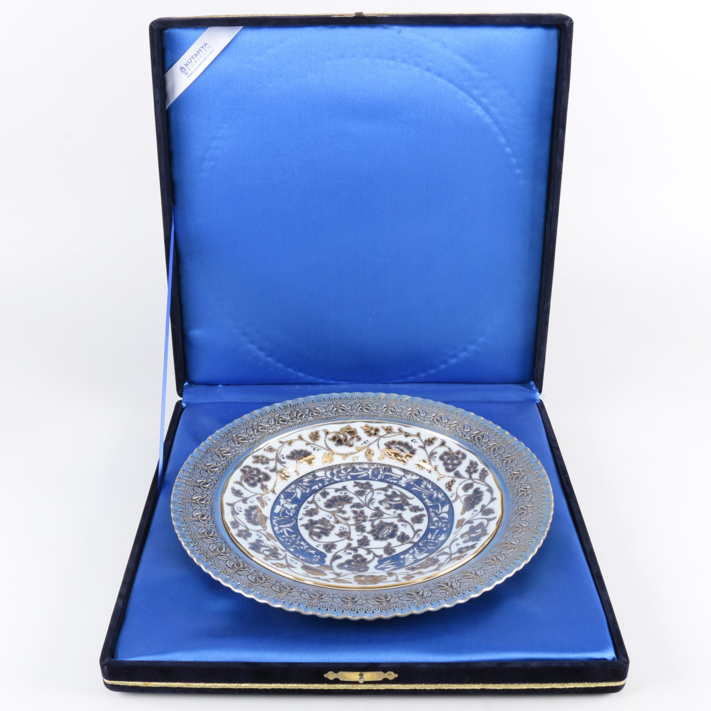 Turkish Hand-Painted Kütahya Porselen Plate