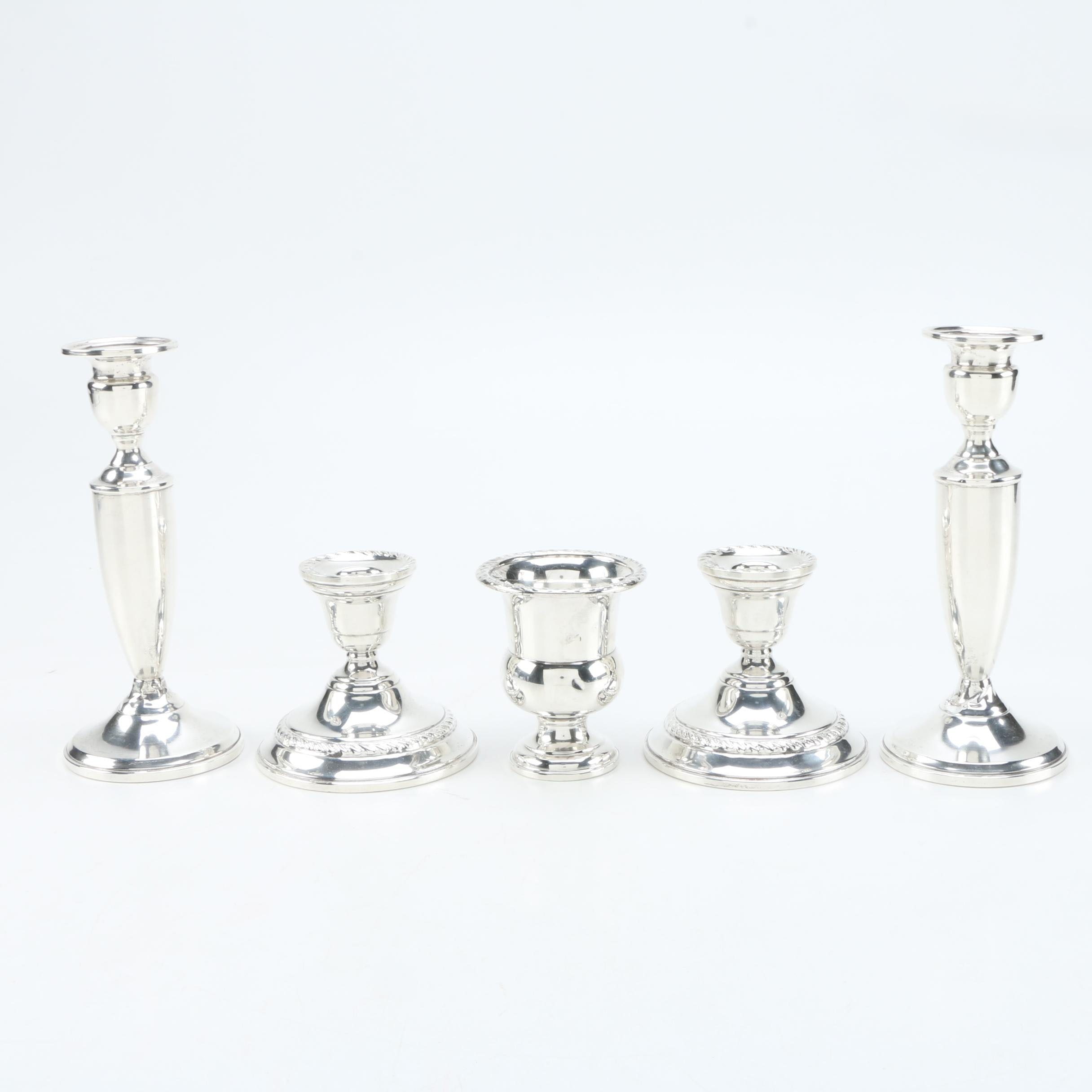 Mueck-Carey Co. and Preisner Weighted Sterling Candleholders
