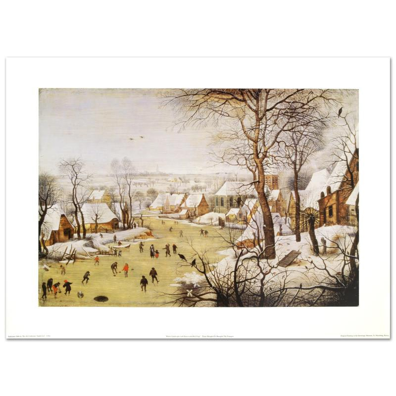 """""""Winter Landscape with Skaters and Bird-Trap"""" by Pieter Brueghel"""