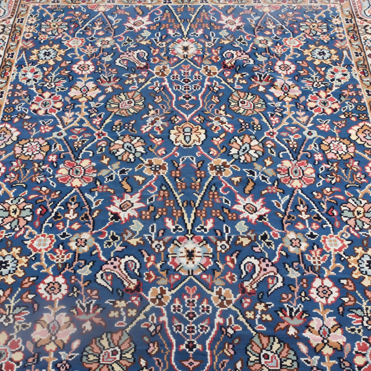 Persian Style Wool Area Rug Ebth: Hand-Knotted Persian-Style Wool Kilim : EBTH