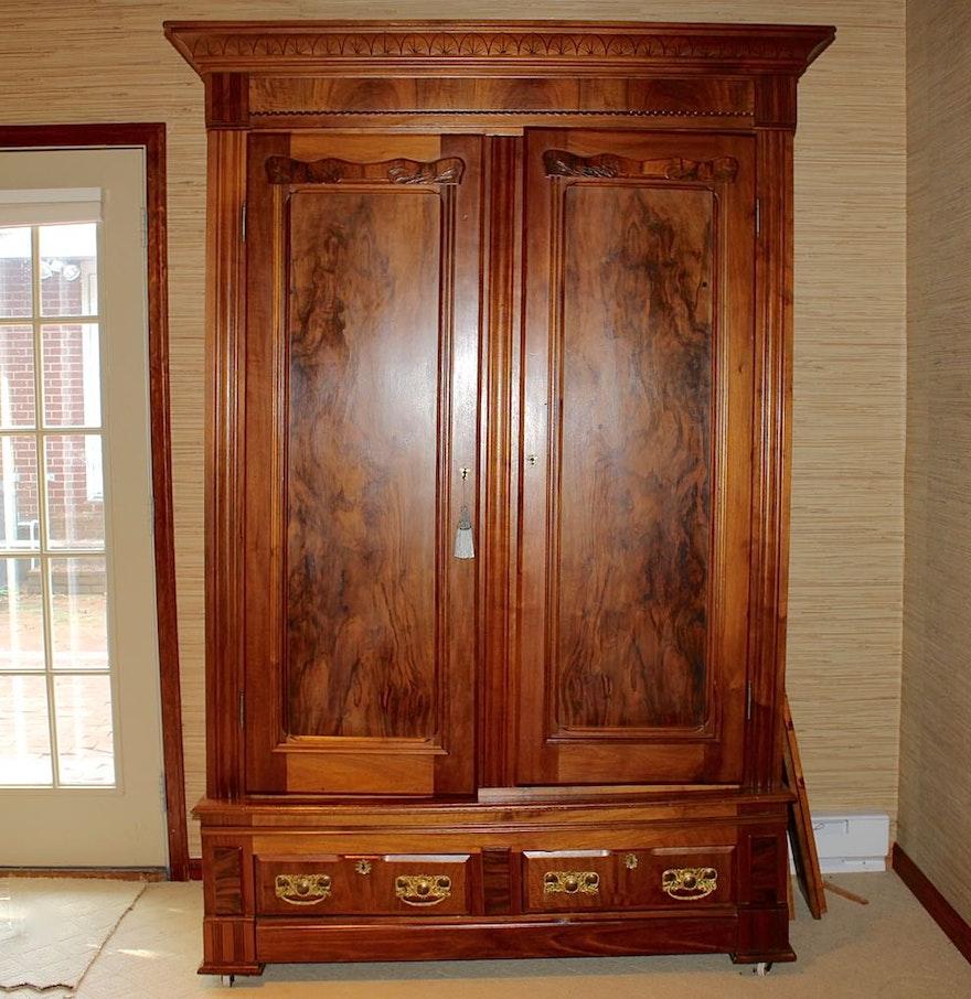 Antique Victorian Mahogany Armoire : EBTH