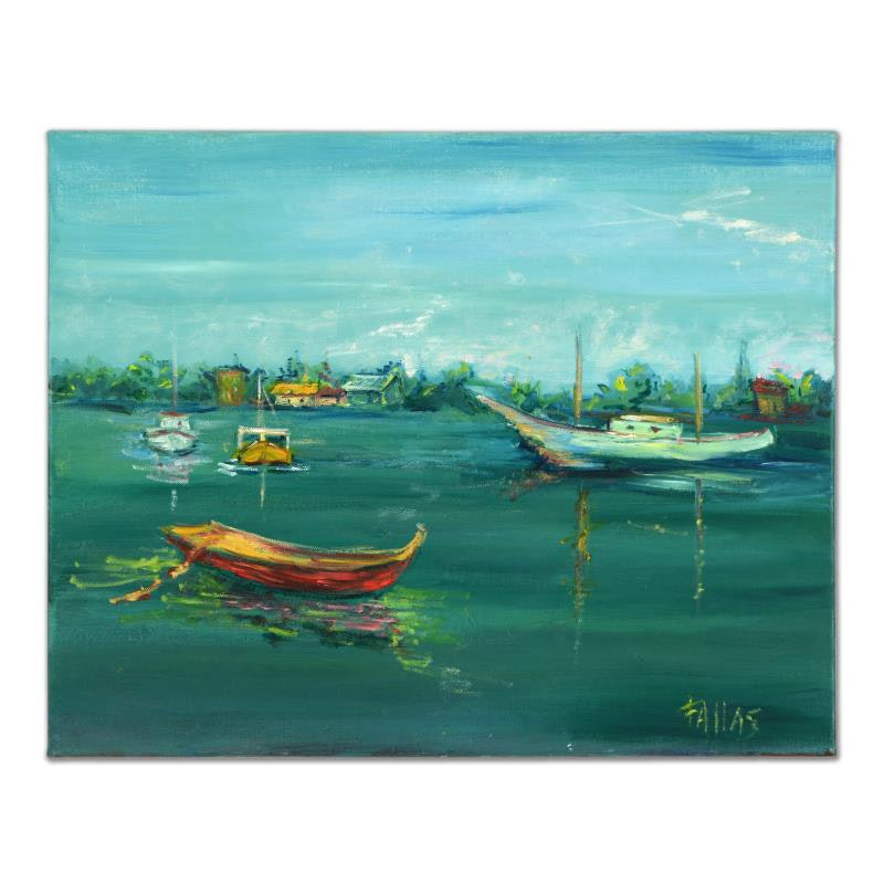 """""""Seaside Summer"""" Original Oil Painting by Elliot Fallas"""