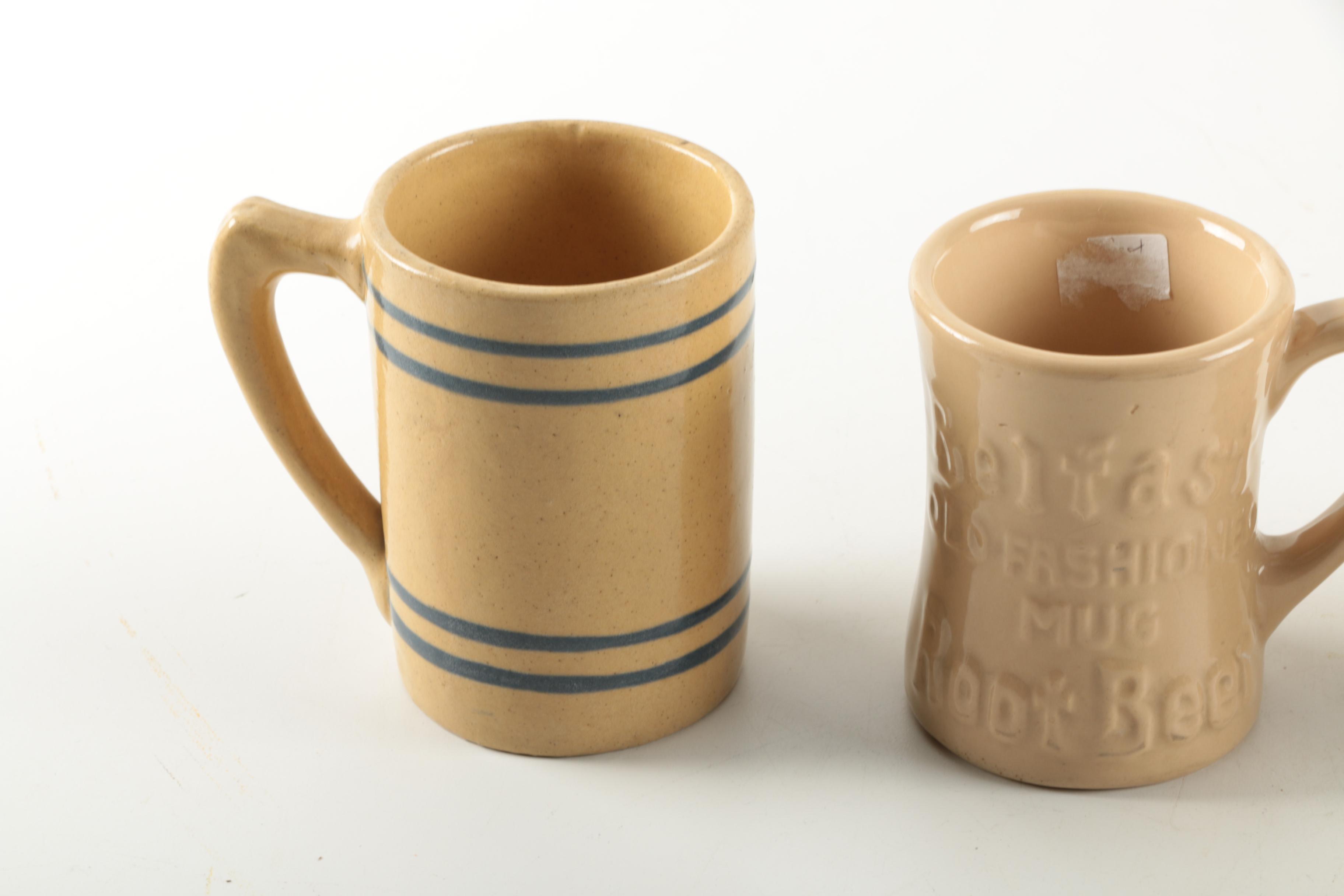 B & B Auto Sales >> Stoneware Mugs including Antique to Vintage Buckeye Pottery : EBTH