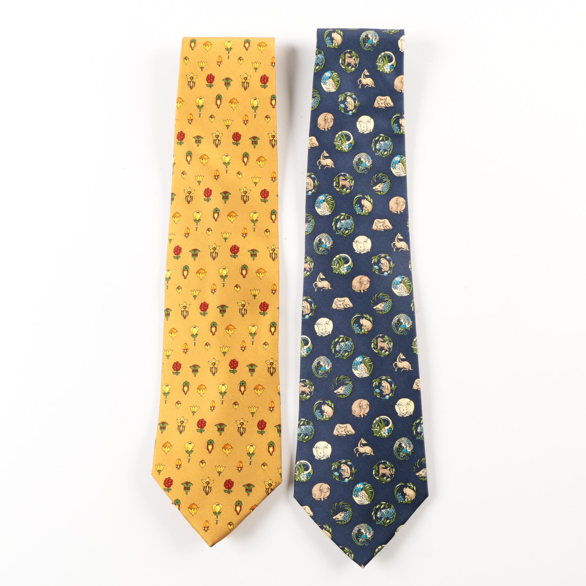 Salvatore Ferragamo Silk Ties