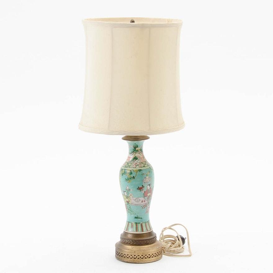 Vintage Porcelain Chinese Vase Lamp Ebth